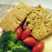 Golden Flaxmeal Cornbread