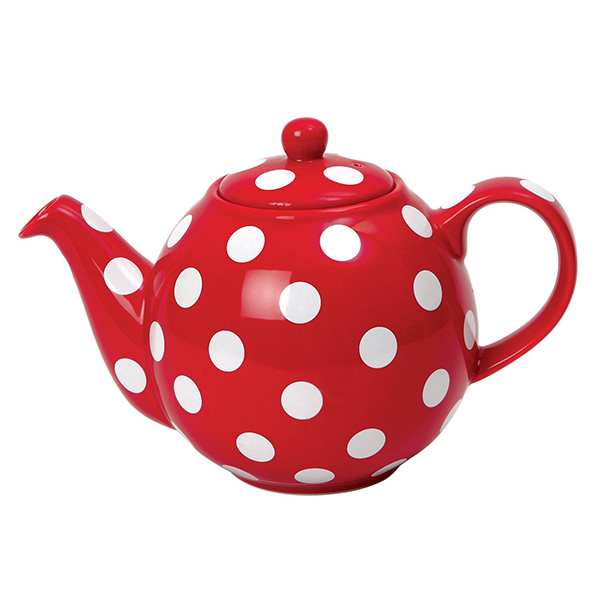 Globe Teapot Red