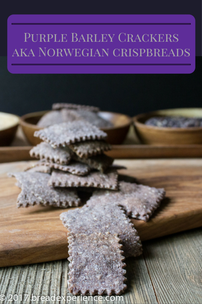 Purple Barley Crackers | Norwegian Crispbreads