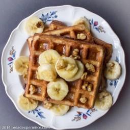 Sour Cream Banana Spelt Waffles