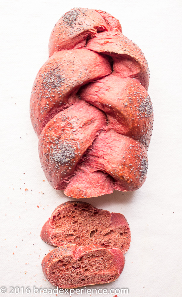 Red Beet Challah - Bread Baking Babes