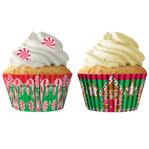 Candy Canes and Gingerbread Houses Baking Cup Liners