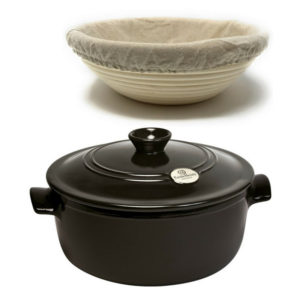 Charcoal Ceramic Round Stewpot Dutch Oven Bread Pot Bundle