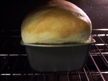classic white bread baking