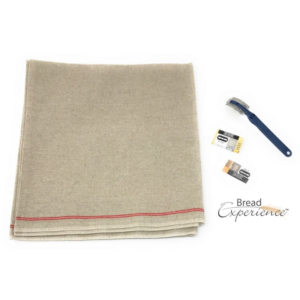 3-Piece Bakers Couche Proofing Cloth Lame Set