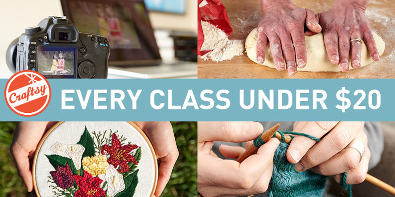 Slider Image – Craftsy Online Class Sale