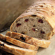 No Knead Cranberry Harvest Bread
