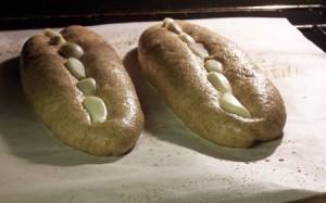 Garlic Studded Baguettes Hbinfive Bread Experience