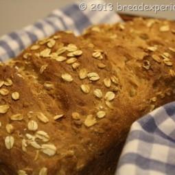 Honey Graham Oatmeal Spelt Bread