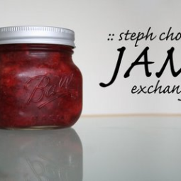 Spiced Wine Peach Jam and Jam Exchange
