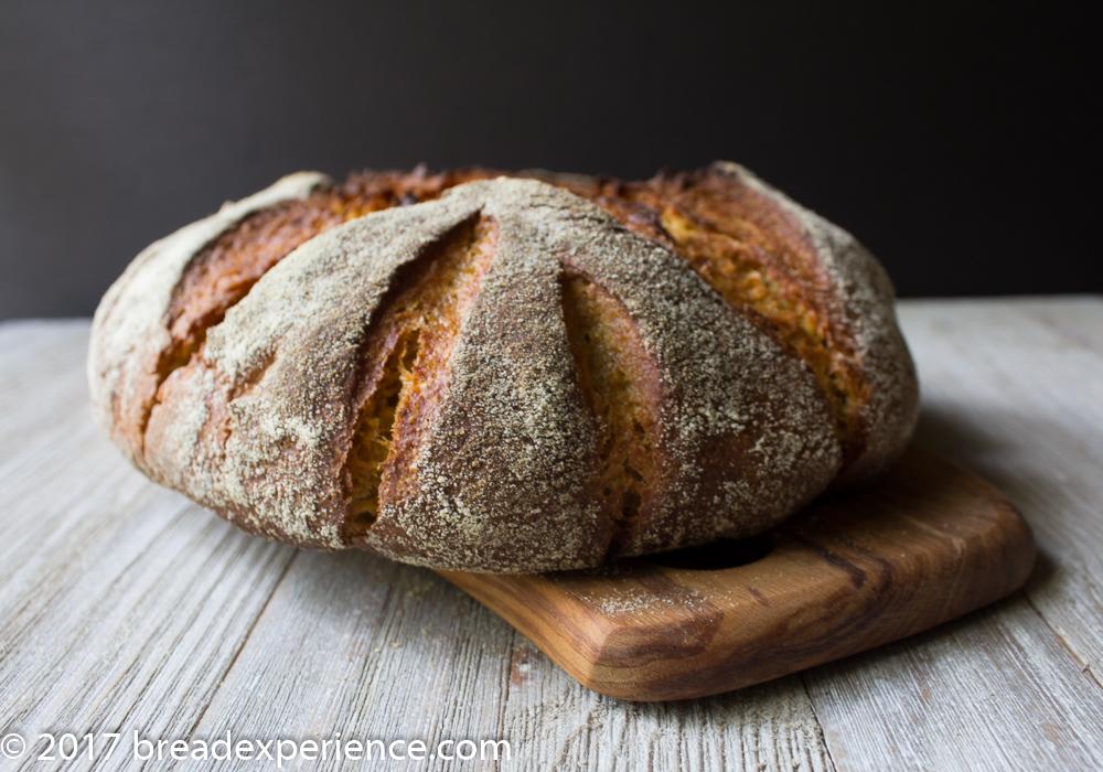 Kefir Milk Einkorn Pumpkin Cornmeal Bread