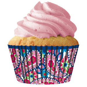 Pink Paisley Cupcake Baking Cup Liners