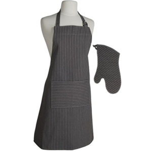 Pinstripe Granite Apron Oven Mitt Combo by Now Designs