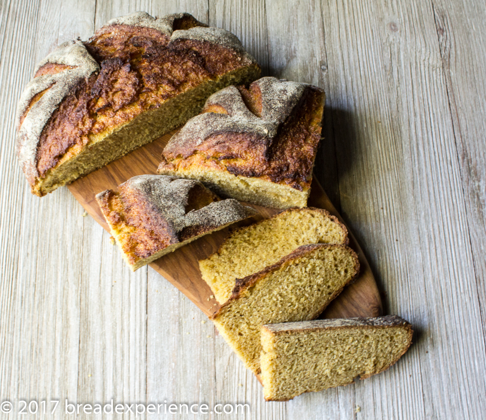 Pumpkin Cornmeal Loaf Sliced