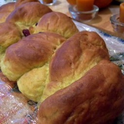 Pumpkin Cranberry Braid