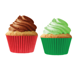 Red and Green Baking Cup LIners