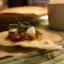 Sourdough Rosemary Lavash Crackers