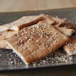 Sesame Spelt Crackers for BBD#65
