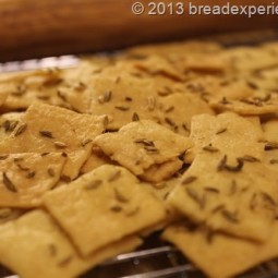Sourdough Semolina & Fennel Seed Crackers