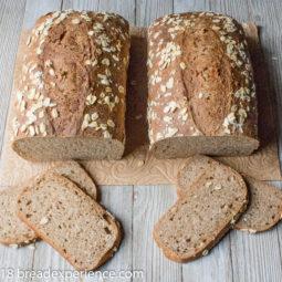 100% Whole Grain Sourdough Spelt Oatmeal Bread