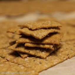 Whole Wheat Sourdough Herb Crackers