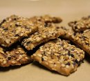Crunchy Sprouted Wheat Crackers
