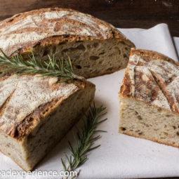 Tartine-Style Sourdough Rosemary Polenta Loaf #BreadBakingBabes