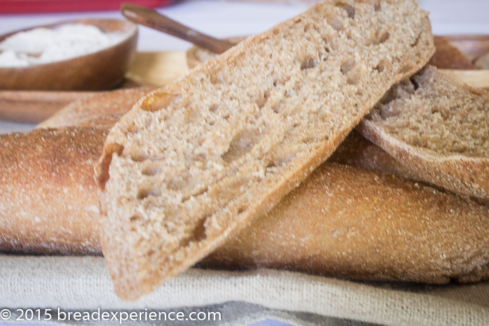 Whole Grain Poolish Baguettes - Bread Experience